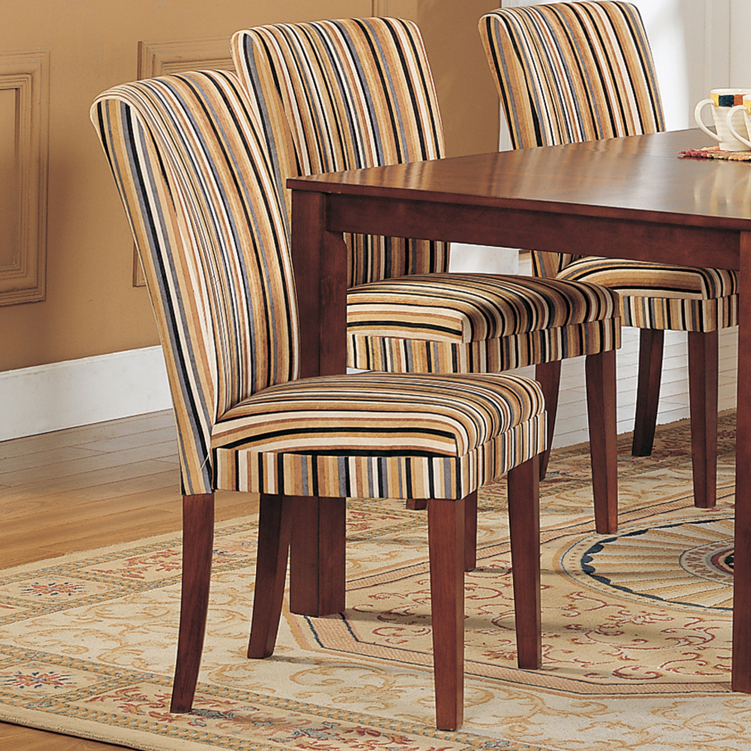 p P upholstered kitchen chairs Oxford Creek Striped Upholstered Dining Chair Set of 2 Multi Home Furniture Dining Kitchen Furniture Dining Chairs