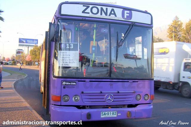 Transantiago F13 | STP Santiago | Neobus Mega 2000 - Mercedes Benz / SA9182