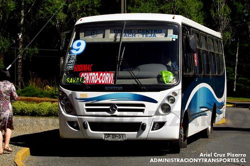 Valdivia - Línea 9 | Transporte Pasajeros Río Cruces | Caio Foz / Mercedes Benz (DPXP31)
