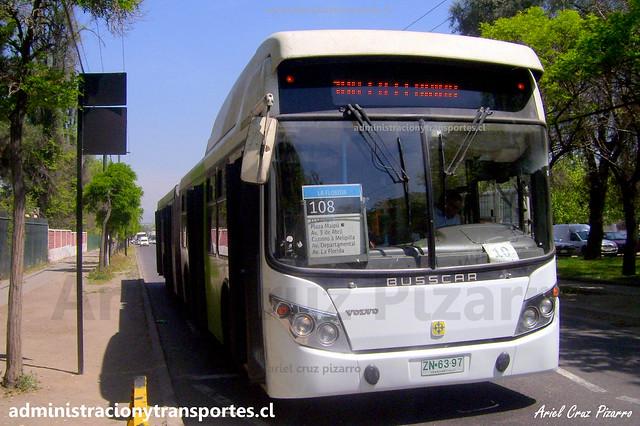 Transantiago 108 | Alsacia | Busscar Urbanuss - Volvo / ZN6397
