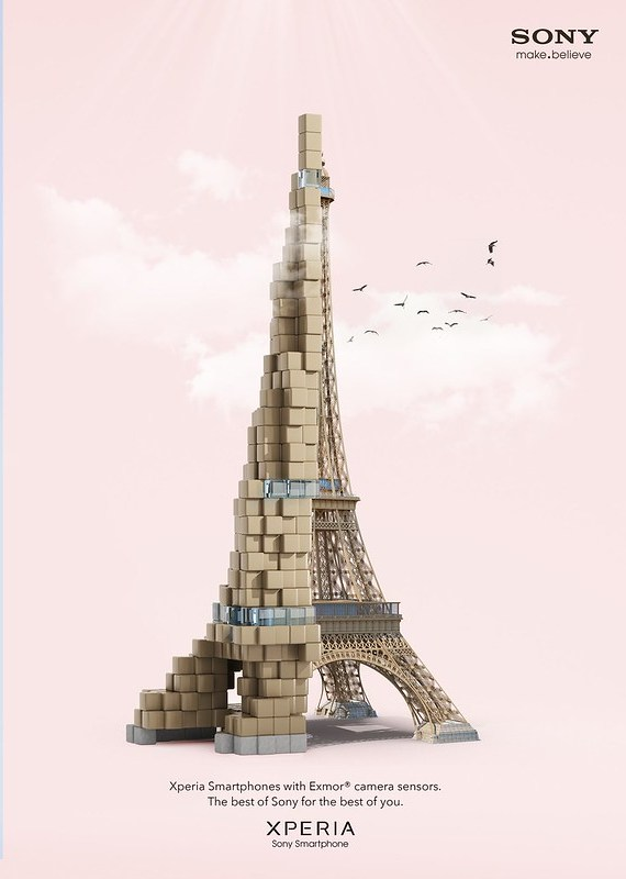 Sony Xperia - Pixelated Eiffel Tower