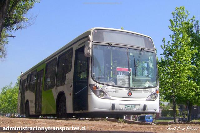 Transantiago 110 | Alsacia | Marcopolo Gran Viale - Volvo / ZN4382