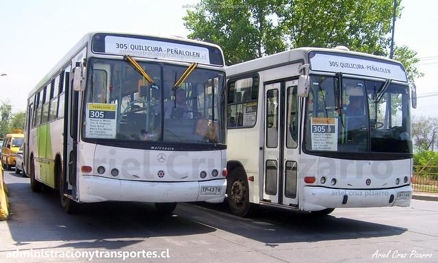 Transantiago 305 | BGS | Marcopolo Torino - Mercedes Benz / TP4378 - UV1144