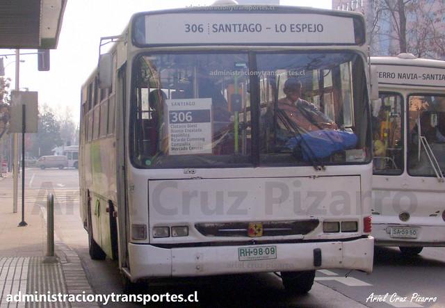 Transantiago 306 | BGS | Busscar Urbanus - Mercedes Benz / RH9809