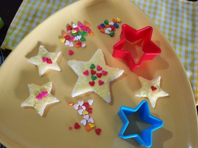 Star Fairy Bread