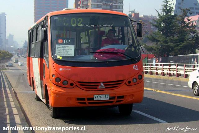 Transantiago C02 | Redbus | Neobus Thunder - Agrale / VX4187