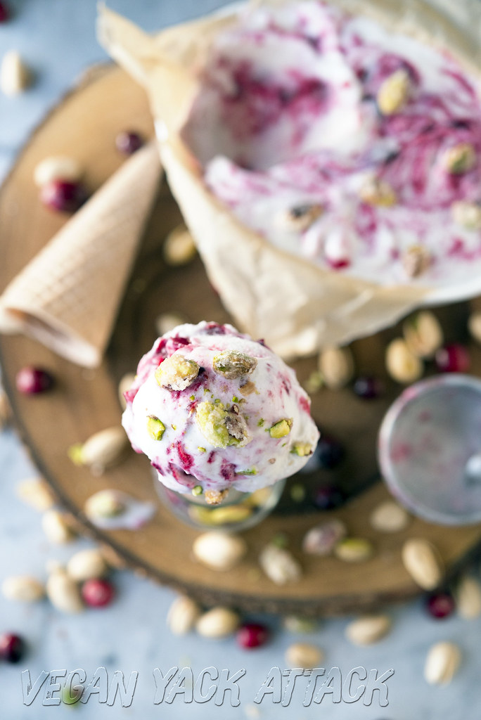 Cranberry Cointreau Coconut Ice Cream