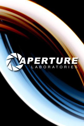 Aperture Science with both portals | iPhone Wallpaper | Larry Tomlinson | Flickr
