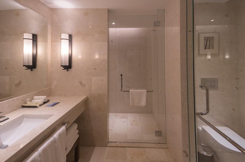 bathroom at hilton kota kinabalu