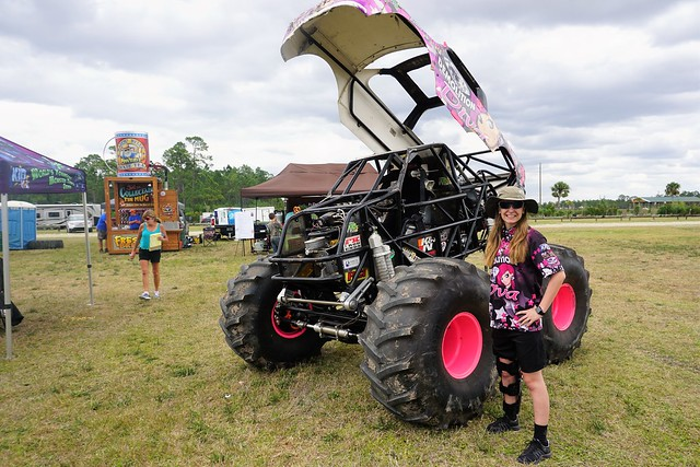 Mad Mo with Demolition Diva Pro Mini Monster Trucks at Charlotte County Spring Festival & Race Day at Muddy Water Sports Park, Punta Gorda, Fla., April 22, 2017