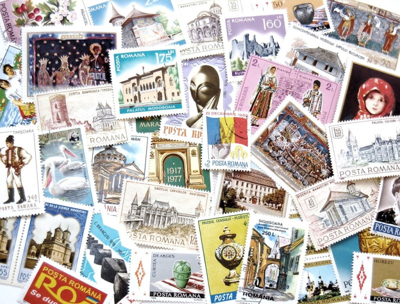 Large Of Post Card Stamps