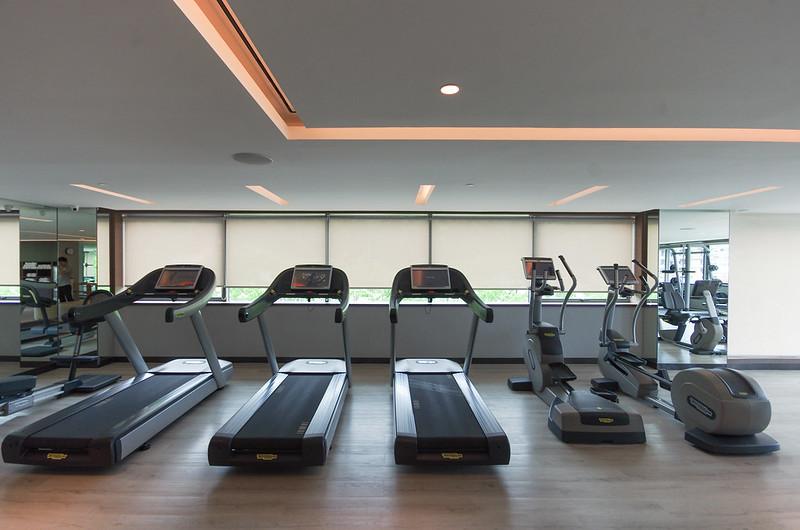 fitness center - hilton kota kinabalu