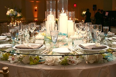 Cake Table Flowers under glass | July 3 Wedding | Flickr
