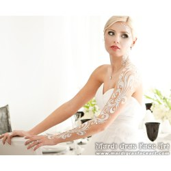 Small Crop Of Body Paint Wedding Dress