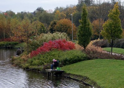 Alexandra Park Oldham (2)   Fishing in the boating lake of A…   Flickr