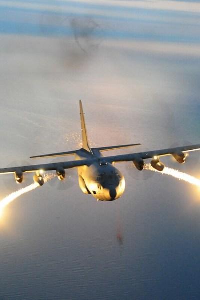 C-130 Flares Wallpaper   Flickr - Photo Sharing!