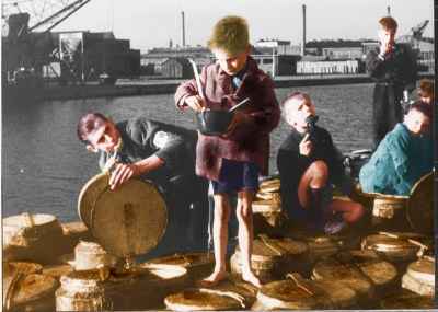 War and Hunger / Barefoot in Winter (Colorized) | A hungry b… | Flickr
