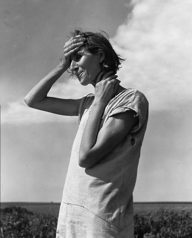 Nettie Fetherston - One of two imaages by Dorothea Lange exhibited in the 1960s as Woman of the High Plains - and subsequently published in photography books