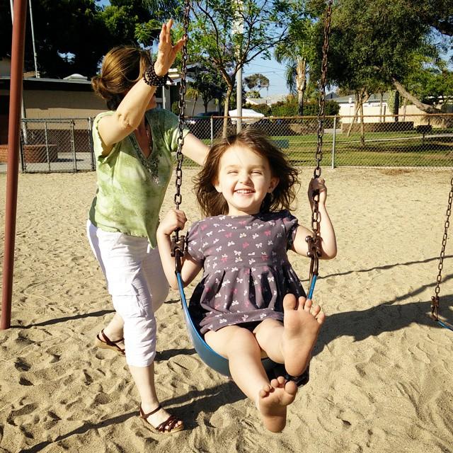 Feeling free on the swings... It's the little things!