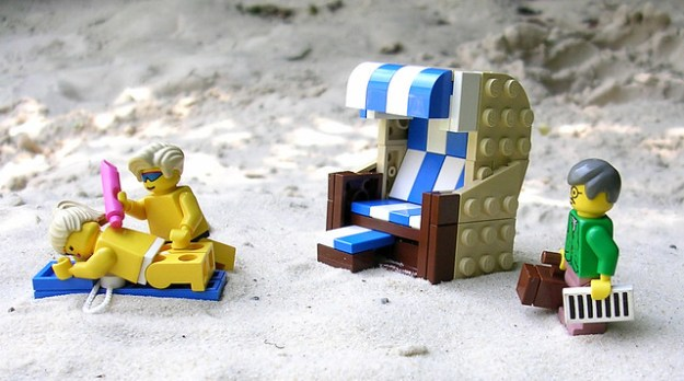 life's a LEGO beach