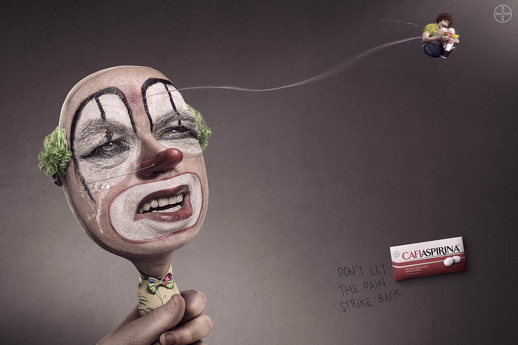 Bayer Cafiaspirina - Clown