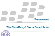 BlackBerry Storm PowerPoint - Image 1 of 17