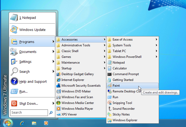 Lenovo Windows 8 Start Menu