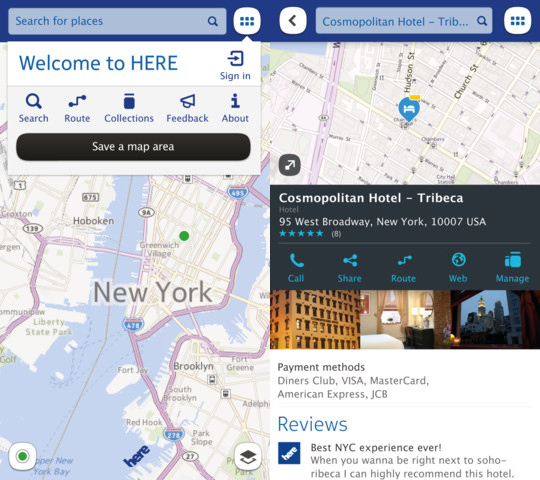 Nokia HERE Maps App