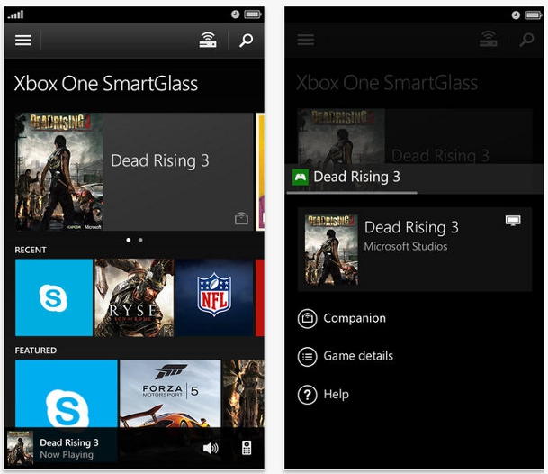 Xbox One SmartGlass iOS Android