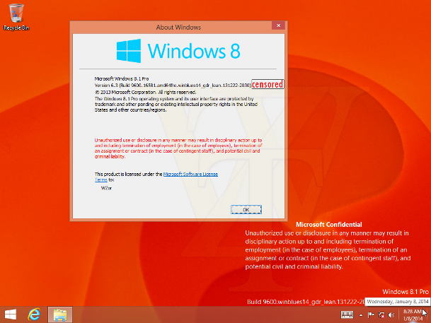 Windows 8.1 Update 1 Leak
