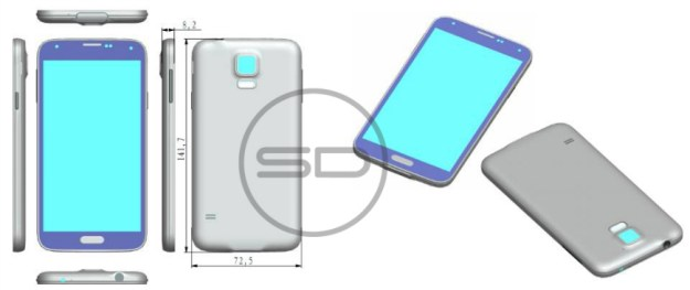Galaxy S5 Design, Size