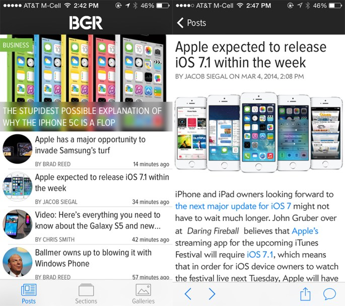 BGR For iPhone iPad