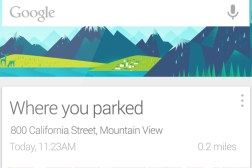 Google Now Where You Parked Card