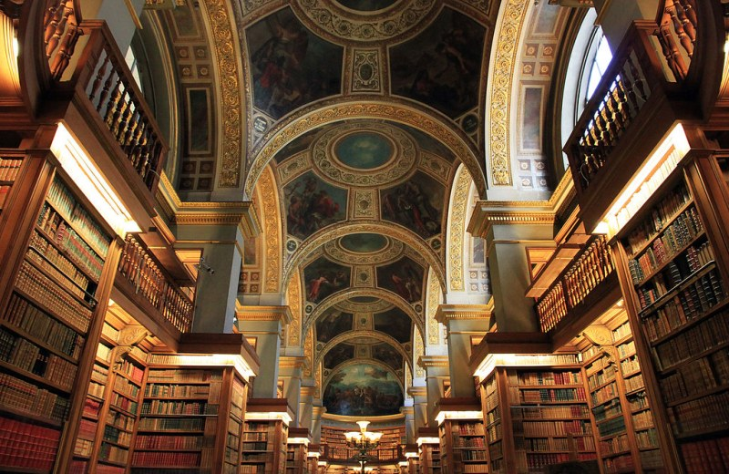 Library of the National Assembly, located in the Palais Bourbon, Paris, France. Image credit NonOmnisMoriar.