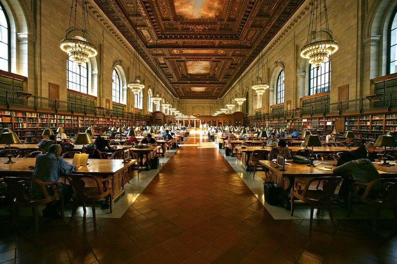 Grand Study Hall, New York Public Library. Image credit Alex Proimos.