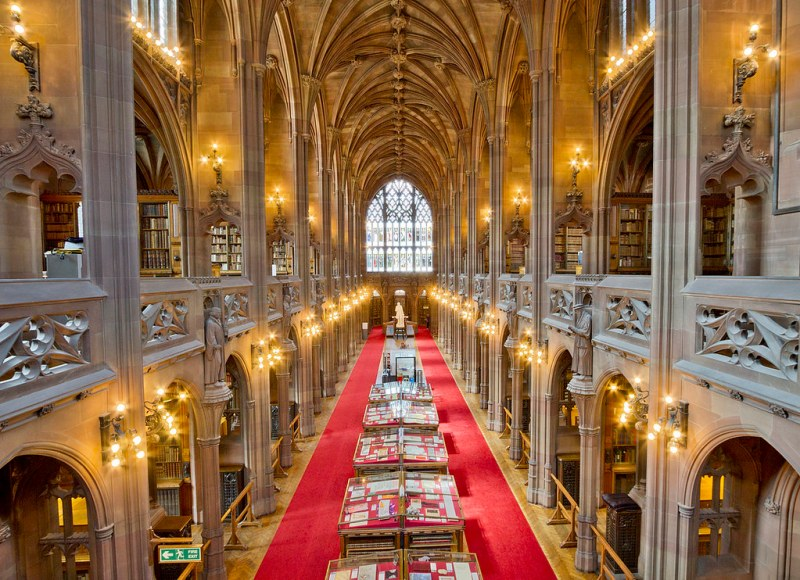 The John Rylands Library, The University of Manchester, England. Image credit Mdbeckwith.