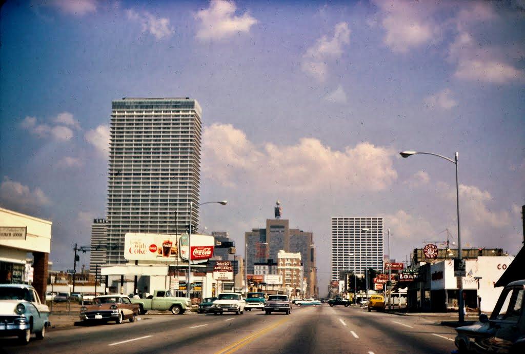 Downtown Houston, Texas mid 1960s
