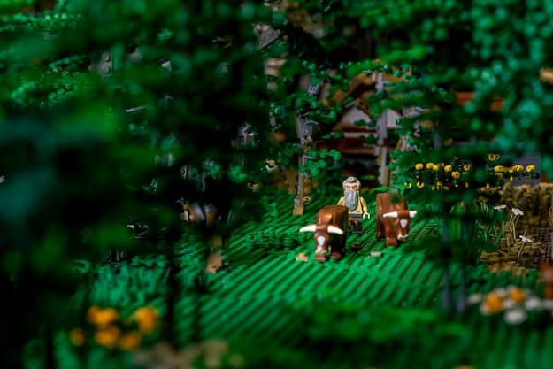 Anglo Saxon forest scene