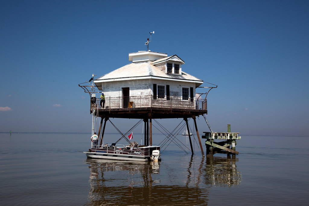 Highsmith, Carol M, photographer. Middle Bay or Mobile Bay Lighthouse, Mobile Bay, Alabama. 2010