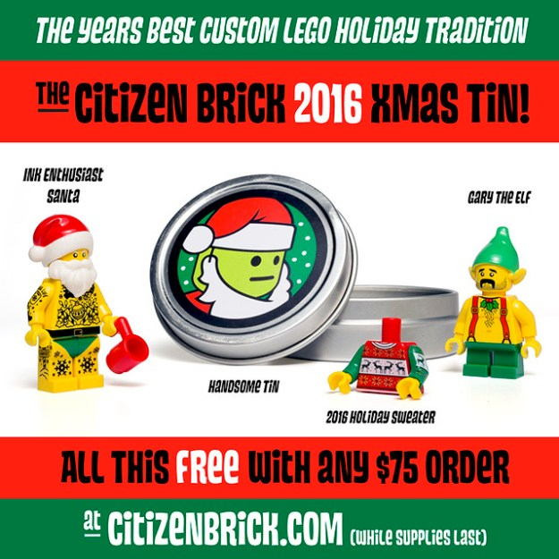 Citizen Brick holiday tin