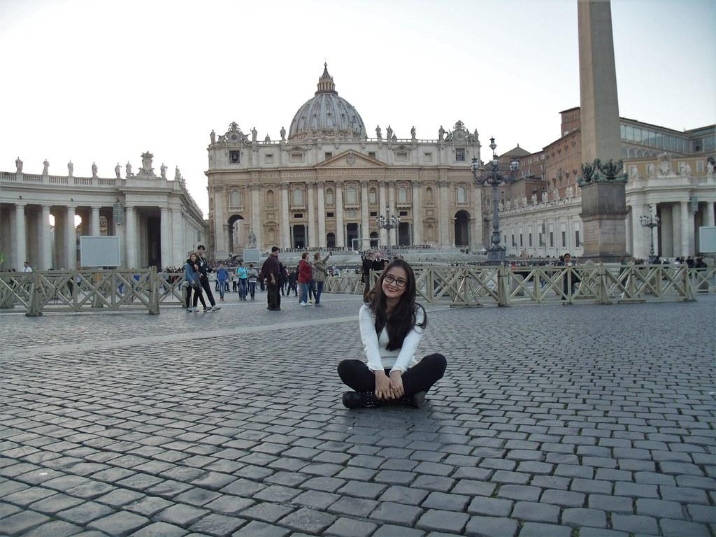 Retribuindo a visita ao Papa!