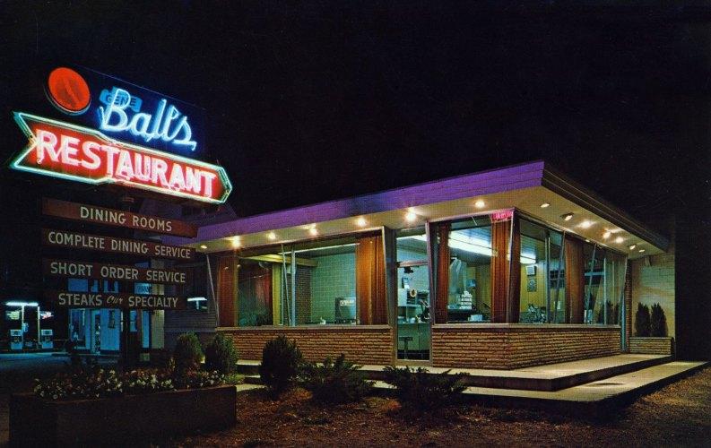Gene Ball's Restaurant - Point Pleasant, West Virginia U.S.A. - date unknown