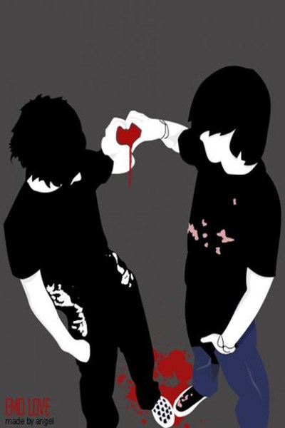 Emo Friendship - Wallpaper 4 Apples iPhone 4 and iPhone 4S…   Flickr