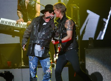 Axl Rose and Duff McKagan in 2014.