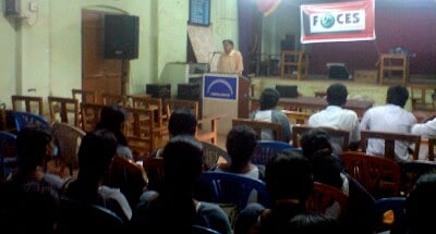 CEC Principal Prof. (Dr.) V P Devassia taking seminar