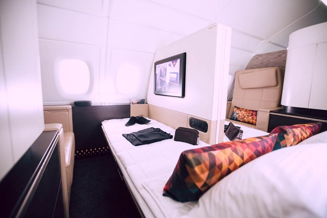 Etihad Airways First Class cabin bed