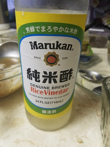 Bottle of Marukan Rice Vinegar