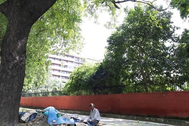 Home Sweet Home - S. K. Rautray's Pavement Quarter, Kasturba Gandhi Road
