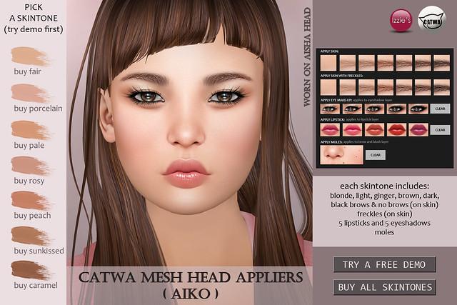 Catwa Mesh Head Applier (Aiko) (tomorrow @ Uber)