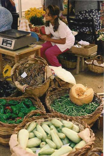 Vegetables at the San Felix de Guignols in Catalonia